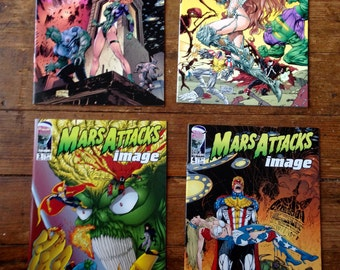 Mars Attacks! Image; Vol 1 , 1 through 4 Modern Age Comic Book Limited Series. NM (9.4). 1996 - 1997. Image Comics