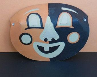 Vintage Mask 50's Luminous Masklite Mask Vintage Happy Clown Mask Vintage Halloween Mask Vintage Glow In The Dark Children's Mask