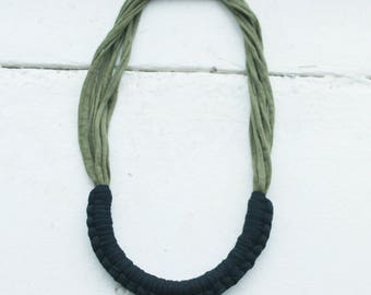 Black and Olive necklace