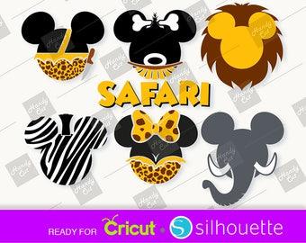 Disney SVG MICKEY Tarzan SVG Disney svg cut files - Mickey lion svg - Minnie Jane - Mickey elephant svg - Mickey zebra svg - Mickey Pygmy