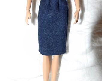 Fashion Doll Coordinates - Blue jean denim skirt - es443