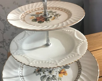 3 tier vintage cake stand
