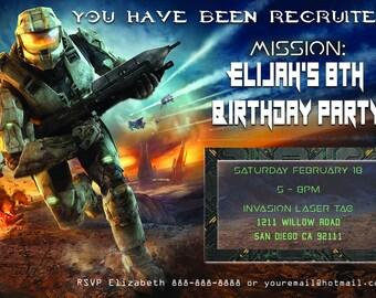 Halo Birthday Invitation - Personalized