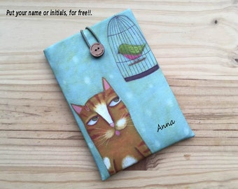 Personalized ereader case,padded sleeve,kindle cover,Kindle paperwhite,kindle fire,kindle voyage,kindle touch,BQ,kobo,samsung
