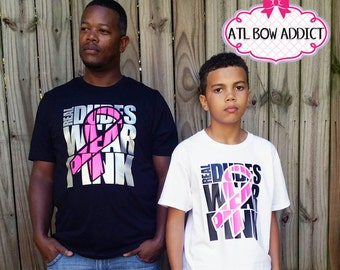 Real Dudes Wear Pink Breast Cancer Awareness Shirt For MEN,YOUTH and TODDLERS