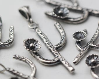 Southwestern Cactus Necklace, Cactus Jewelry, Silver Cactus