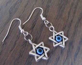 Star of David earrings