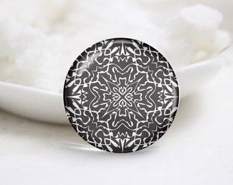 Handmade Round Glass Photo Cabochons-Tiling (P3237)