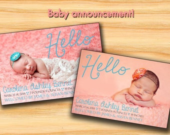 Baby announcement card,new born card, We are expecting card, Pregnancy Announcement card, Birth announcement card, new baby card
