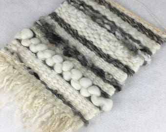 Wall hanging, peg woven, natural fibres, weaving, woollen wall hanging, decoration, fibre art