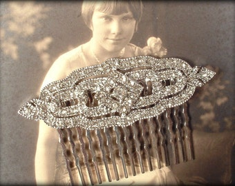 Bridal Hair Comb, Art Deco Wedding 1920s