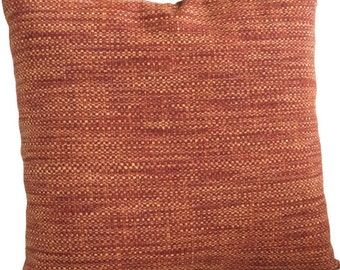 Indoor Outdoor Pillow Cover Rust Red Burnt Orange Throw Pillow Cushion Coastal Pillows Decorative Accent Pillow, Patio Chair Couch Pillow