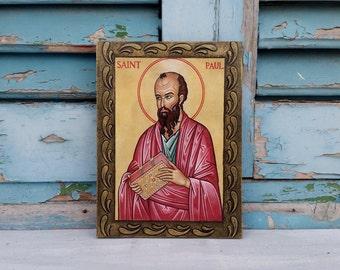 Saint Paul,St Paul,Apostle Paul,Paul the Apostle,Twelve Apostles,12 Apostles,Saul of Tarsus,Preacher,Christian Saints,Apostle Art Icon
