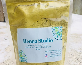Organic Rajasthani Henna powder - 200g (Hair color & Body art).