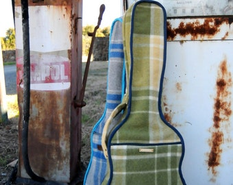 BESPOKE ORDER: Repurposed Blanket Guitar Case Customised to Fit Your Guitar