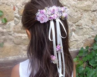 hair pin, flower girl hair pin, flower hair pin, communion hair accessories