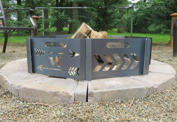 fire pit personalized custom and portable add your initial. Black Bedroom Furniture Sets. Home Design Ideas