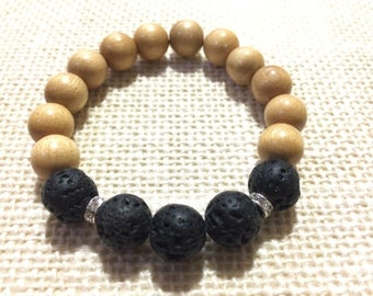Stacking precious gems with wood beads