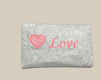 Customized.. Pocket Tissue Holder. With glitter.
