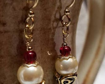 Handmade Earrings - ICE CREAM CONES - 14K Gold-Filled Earwires