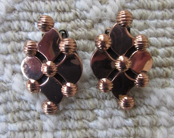 Vintage Renoir Copper Earrings,clip on, signed,Excellent Condition!