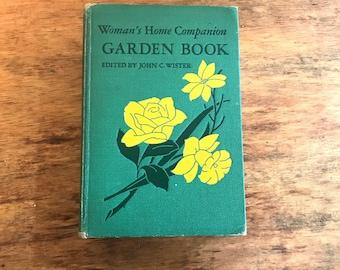 Vintage 1940s Women's Home Companion Garden Book  Colliers landscape fruit orchard