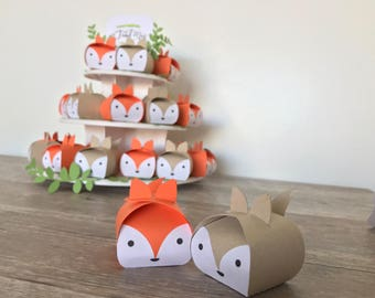 Fox Favor Box Set of 12