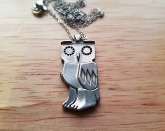 Owl Pendant with Necklace High-Quality Stainless Steel