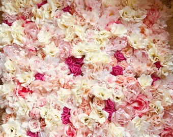 Flower Backdrop, photo shoot prob, rose wall, flower decor for events. Set of 6 panels