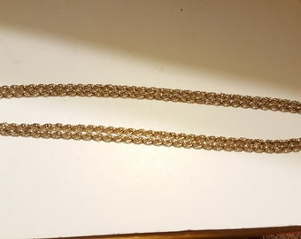 "Beautiful Vintage Textured 55"" Chain"