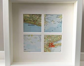 4 square map frame