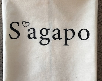 S'agapo Kitchen towel ©, I love you, Greek kitchen towel,