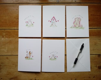 """Note Cards Variety Pack of x 5 (5"""" x 7"""")"""