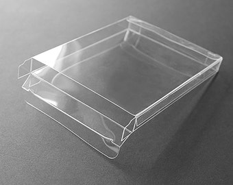 "A2 Clear Plastic Greeting Card Boxes (set of 25), 4-1/2"" x 5-7/8"", Choice of Six Different Depths"