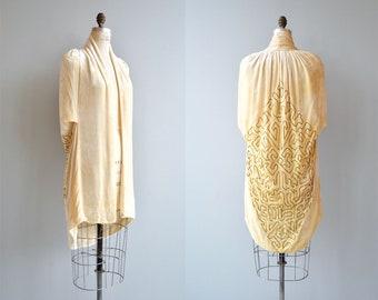 Le Lido silk velvet cape | silk velvet 1920s cape | vintage 20s jacket