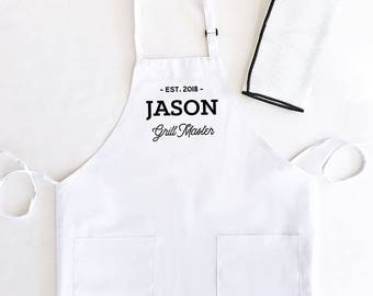 Mens Aprons customized - Aprons for Men Personalized Mens Apron Chef Gifts for Him (EB3242CTM)