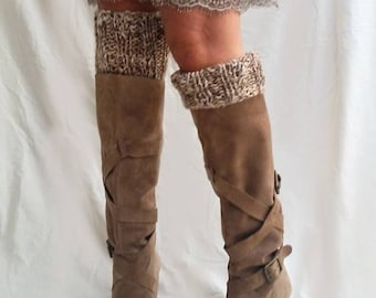 Knit boot cuffs, women leg warmers, boot toppers, knit accessories, christmas gifts for her, boot cuffs