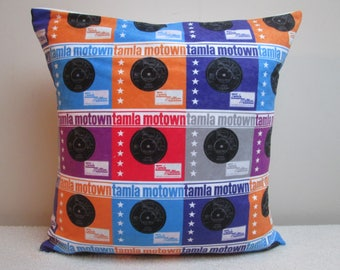 Tamla Motown Northern Soul Vinyl Records Cushion Cover Pillow Cover 16""