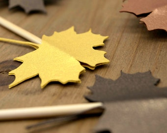 Maple Leaves Treat Toppers | Fall Cupcake Toppers