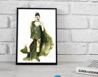 Fenty X Puma print, fashion illustration, watercolour art - 3 sizes available Giclee print