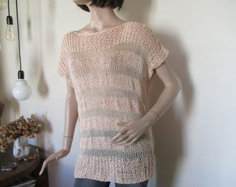 Apricot summer sweater, cool sweater, for woman, for you.