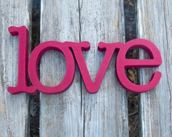 love sign wooden home decor wedding decor wall hanging or shelf sitter