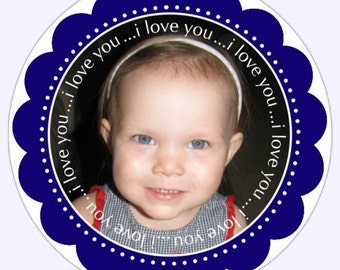 PHOTO Stickers, Custom Labels - 2.5 inch round - Personalized for You