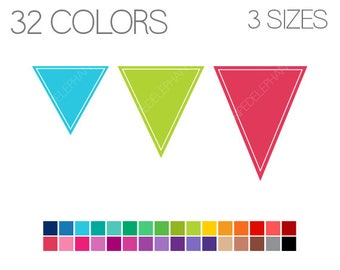 Pennant Flags Clip Art - Banner Clip Art - Flags clipart - Instant Download - Commercial Use - Pennants V2