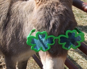 St. Patrick's Day Card Donkey You bet your ass I am Irish Shamrock Sunglasses