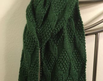 Olive Green Diamond Scarf