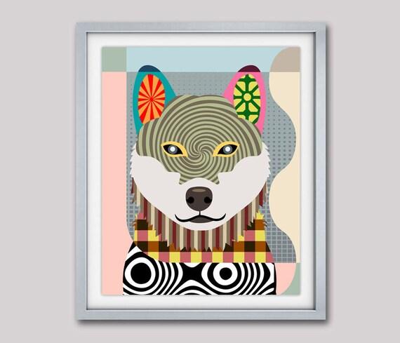 Shiba Inu Art Print, Shiba Inu Poster, Shiba Inu Decor, Shiba Inu Gifts, Dog Breed Poster, Dog Breed Print, Pop Art Dog