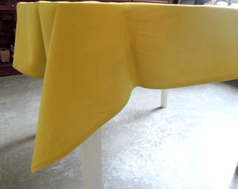 "Linen Tablecloth, Chartreuse, Green, Table Linens, Natural, 52"" x 55"", Washed Linen Tablecloth, Square Tablecloth"