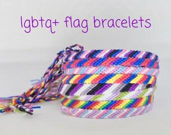 LGBT Bracelet - Pride Bracelet - gay lesbian bisexual transgender pansexual intersex asexual genderfluid genderqueer aromantic - LGBTQ flag
