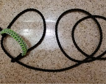 Poly rope halter with  paracord braided nosepiece for lamb goat or small calf